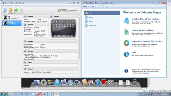 My VMs. OS X, Ubuntu, Minix, Win8